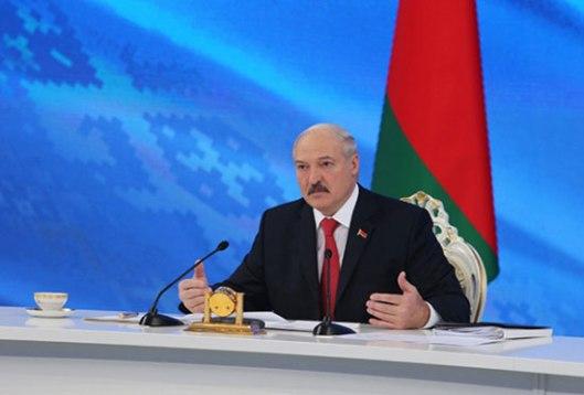 Лукашенко на конференцији за новинаре (Фото: President.gov.by)