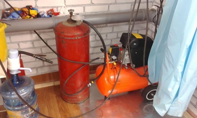Récepteur de cylindre à gaz