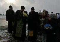 Православные священники на месте упокоения Валентины Минской