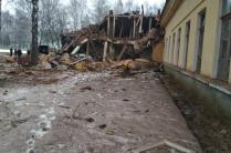 Взрыв в бывшей воинской части в Станьково. Фото МЧС.
