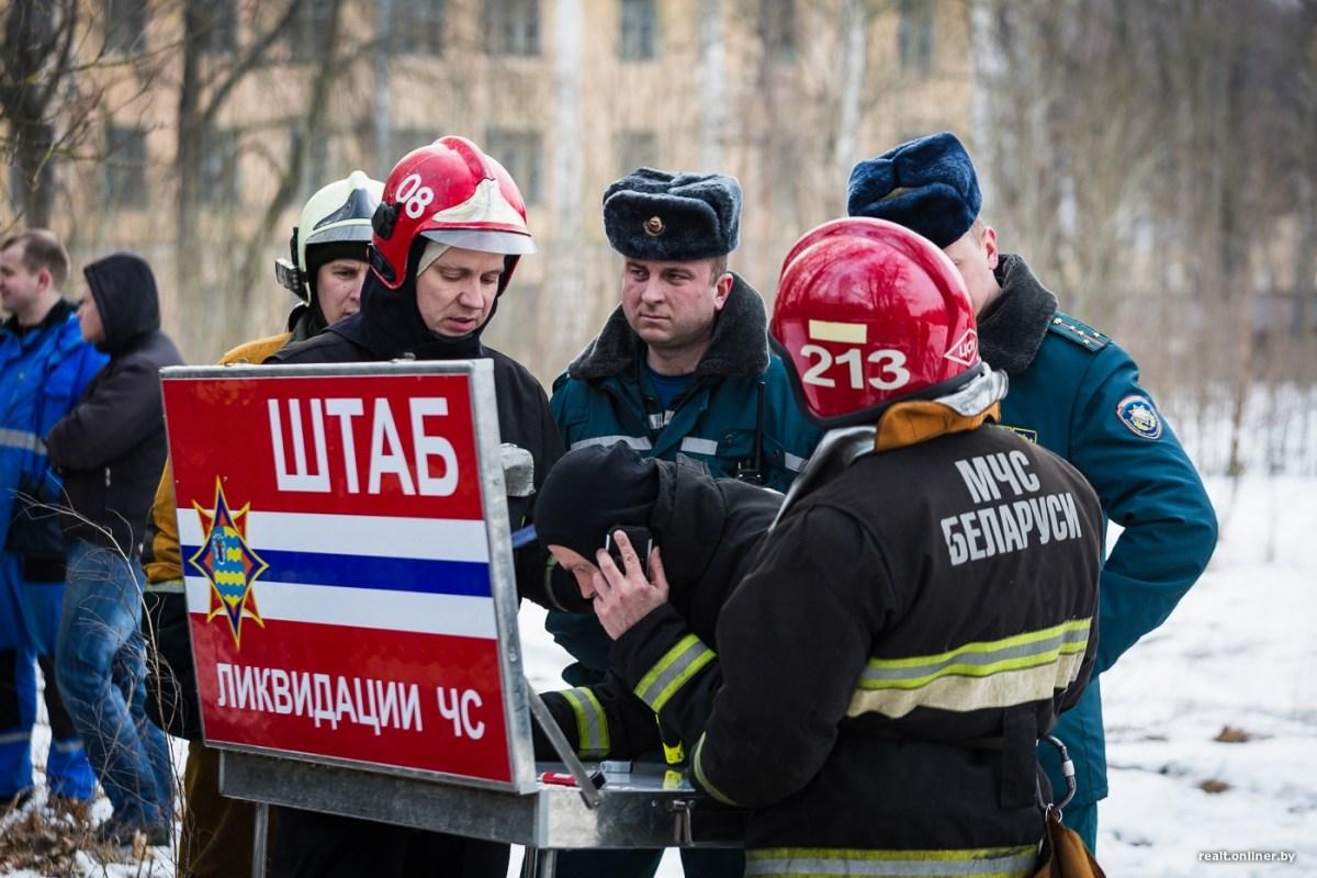 Взрыв на территории бывшей воинской части в Станьково. Фото, видео, подробности