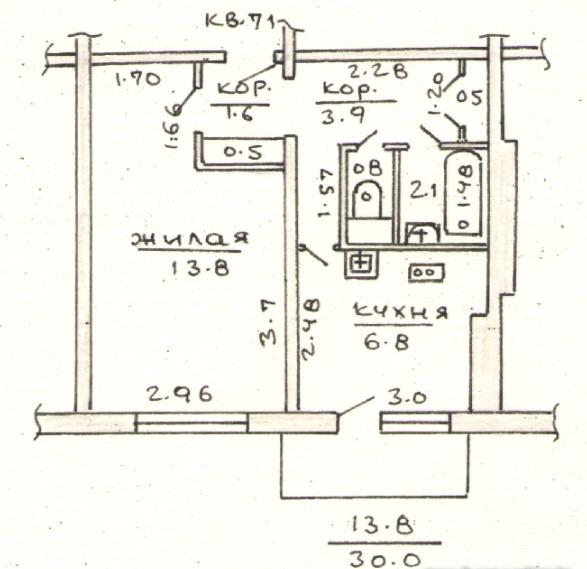 Продам 1-комнатную квартиру в в/г Станьково