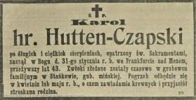 Умер граф Кароль Чапский
