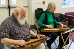 Kirk and Judy House playing dulcimers