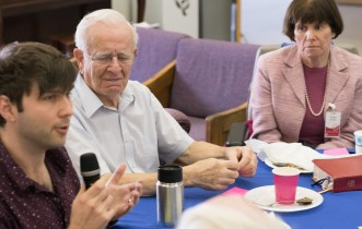 Eric Ekstrand, Bob Gosnell, and Irene Burton