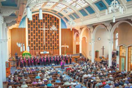 Stannington Choir performing at Victoria Hall in 2016
