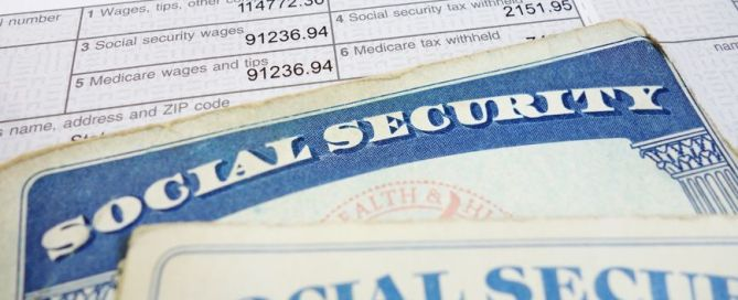 closeup of social security cards and w2 wage form