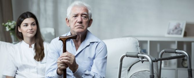 despair senior man living in rest home