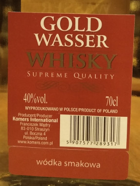 Gold Wasser Whisky 5 Years Old