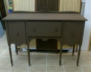 Balsamic painted stage of 1915 Sideboard in Provence  style