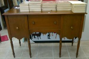 Pre Transformation stage of 1915 Sideboard in Provence  style