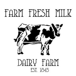 Farm Fresh Milk Stencil (12″x12″)