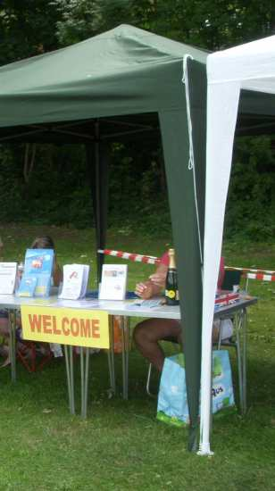 Welcome stall