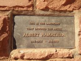 Memorial on the Larapinta Highway near Hermannsburg.