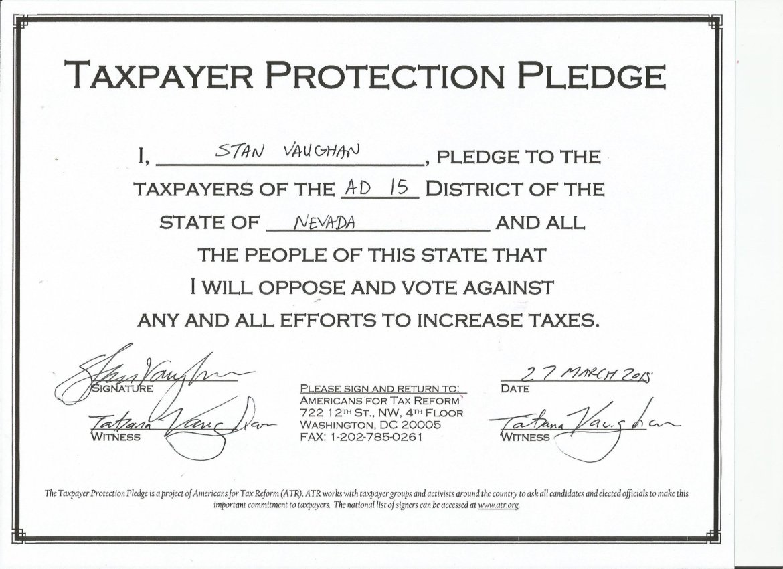 taxpayer protection pledge