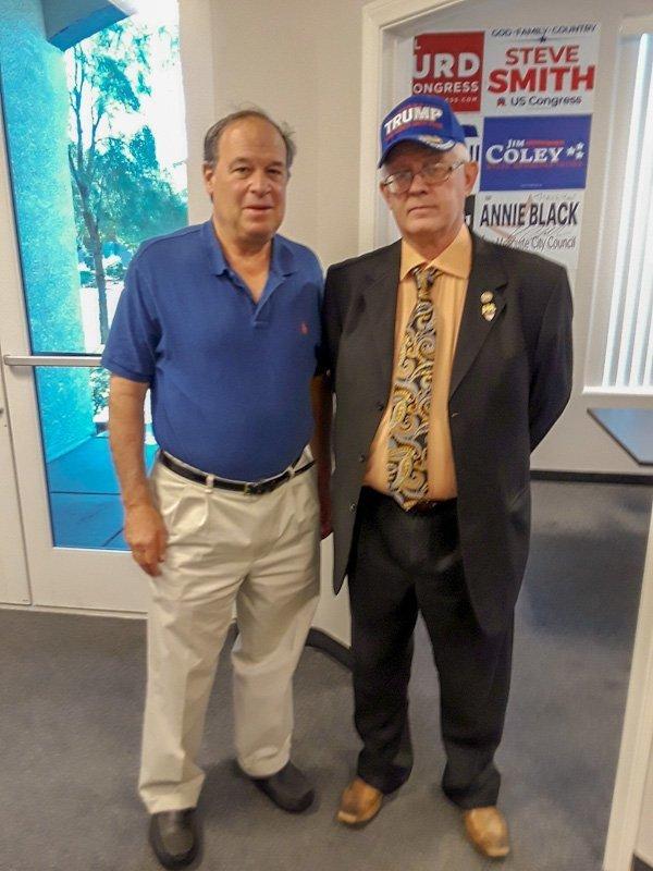 Dan Schwartz and Stan Vaughan