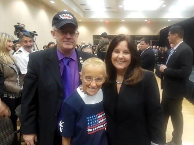 Karen Pence with Stan Vaughan and AJ Maimbourg