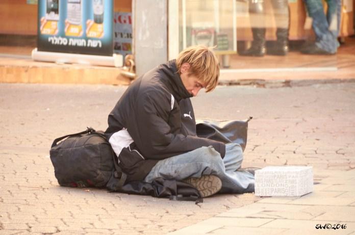 Begging at Carmel Market