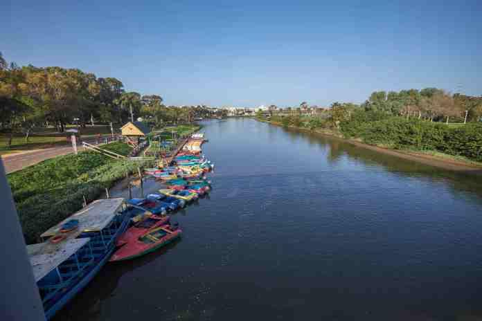 Yarqon from Namir bridge