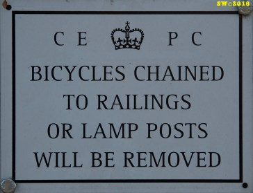 Parks bike notice