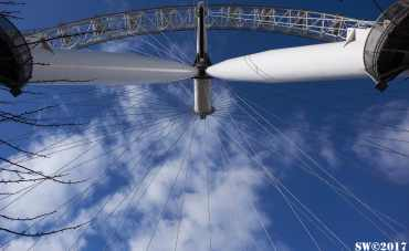 London Eye underneath