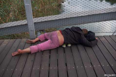 Homeless on the bridge 1