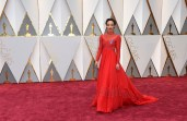 Ruth Negga arrives at the Oscars on Sunday, Feb. 26, 2017, at the Dolby Theatre in Los Angeles. (Photo by Jordan Strauss/Invision/AP) ORG XMIT: CARA101