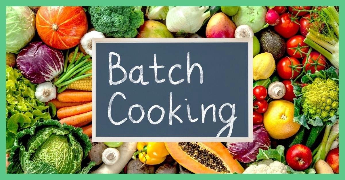 Vegetarian batch cooking tips