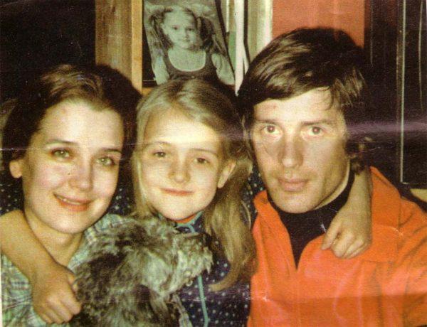 Ирина Алферова и Александр Абдулов с дочерью Ксенией