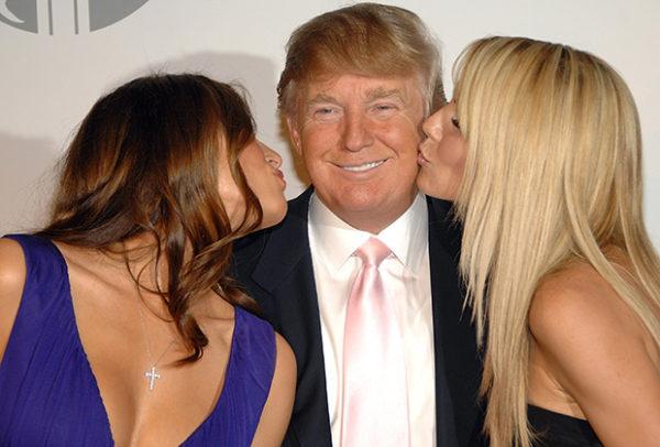 Дональд Трамп, Меланья и Хайди Клум