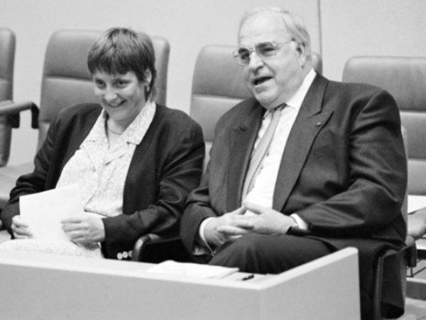 Ангела Меркель и Гульмут Коль