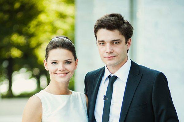 Боярская с мужем  Максимом Матвеевым