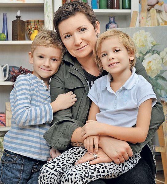 Диана Арбенина с детьми. Фото