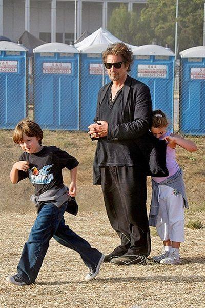 Аль Пачино с детьми. Фото
