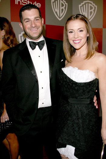 Алисса Милано и Дэвид Баглиари. Фото