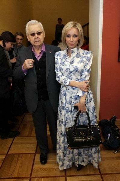 Марина Зудина с мужем Олегом Табаковым. Фото