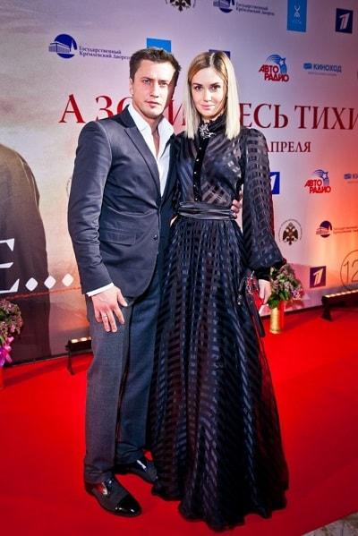 Павел Прилучный с Агатой Муцениеце