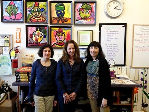 Left to right, Kira Porton, Pam Lewis and Anne Pearson at A Children's Place Bookstore. (James Bash)