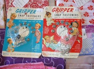 Patterns from 1950s to 1970s are available at The Knittn' Kitten along with vintage fabric and notions. (Janet Goetze)