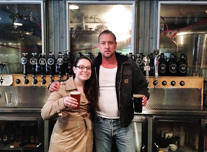 Original Alameda Brewhouse owner Matt Schumacher, right, will focus on the brewery portion of the business while new partner Keytra Bafford will tackles the restaurant side of the operation. (Alameda Brewhouse)