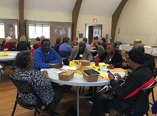 A group of church representatives seeking ways to reduce local poverty has adopted a name and started discussions about how to achieve its goals. (Carol Turner)