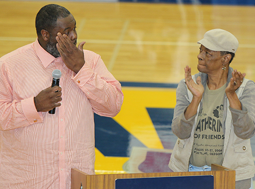 The basketball court at Portland Community College's Cascade Campus, was named for the late Harold Williams, who served on the PCC board from 1991 to 2012. (PCC)