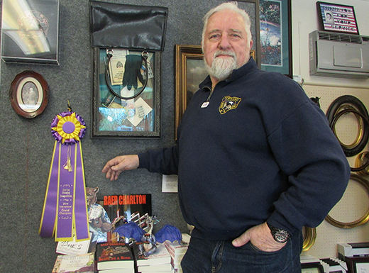 Baer Charlton of Americana Frame in Beaumont Village won the Best In Show Judges' Choice Award at the West Coast Art and Frame exposition in Las Vegas. (Jane Perkins)