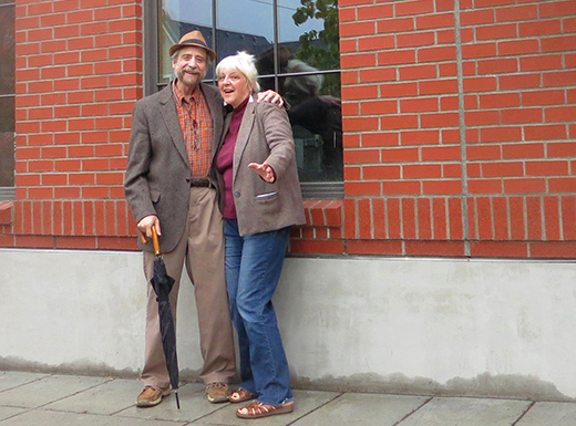 Irvington neighbors Lawrence Howard and Lynne Duddy will open the 12th season of Portland Story Theater in a new performance space, the Fremont Theater, opening this month in the Lyon's Court building in the Alameda neighborhood. (Portland Story Theatre)