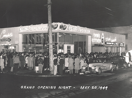 a crowd gathers at the corner of northeast 42nd and broadway for the grand opening of chins kitchen on may 20 1949 wendy li - Chins Kitchen