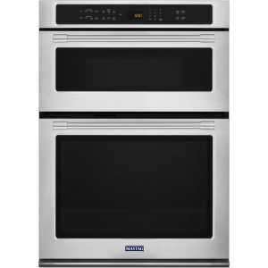 "30"" Single Electric Convection Wall Oven with Built-In Microwave Stainless steel"
