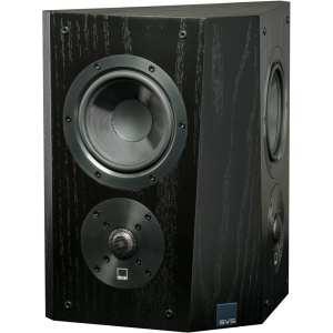 """Ultra Dual 5-1/2"""" Passive 2-Way Surround Channel Speaker (Each) Black oak"""