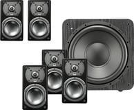 "Prime 4-1/2"" Powered 2-Way Center-Channel Speaker System Premium black ash"