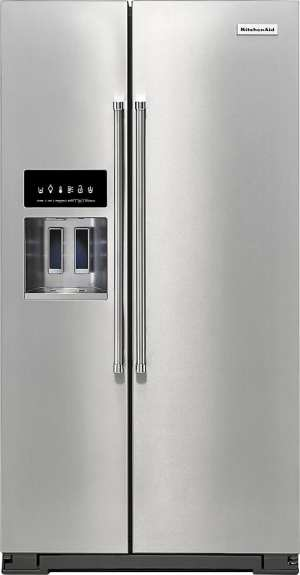 24.8 Cu. Ft. Side-by-Side Refrigerator Stainless steel