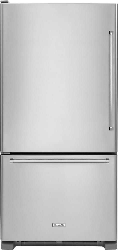 22.1 Cu. Ft. Bottom-Freezer Refrigerator Stainless steel